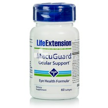Life Extension MacuGuard Ocular Support - Όραση, 60softgels