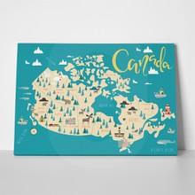 Illustrated map canada 528883270 a