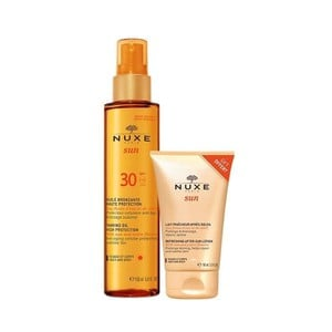 NUXE Sun tanning oil for face & body Spf30 150ml & ΔΩΡΟ after sun για πρόσωπο και σώμα 100ml