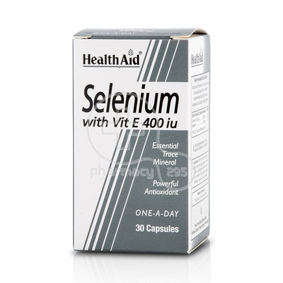 HEALTH AID - Selenium with Vitamin E 400iu - 30caps