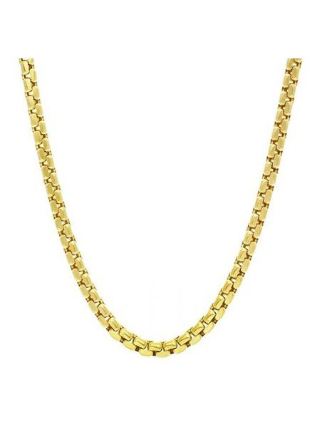 MILLIONALS ROUND BOX STAINLESS STEEL CHAIN GOLD