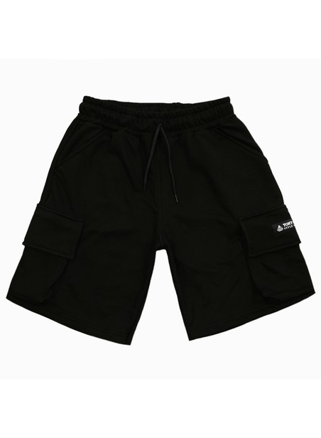 TONY COUPER BLACK CARGO SHORTS