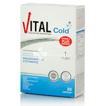 Vital Cold Vitamin C plus Propolis - Ανοσοποιητικό, 20 Lipidcaps