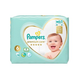 Pampers Premium Care No.6 (13+kg) Πάνες, 38 τεμάχια