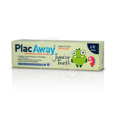PLAC AWAY - JUNIOR TEETH Οδοντόκρεμα 6+ - 50ml