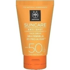 Apivita Suncare Anti-Spot Face Cream Sea Fennel & 3D Pro-Algae SPF50 50ml