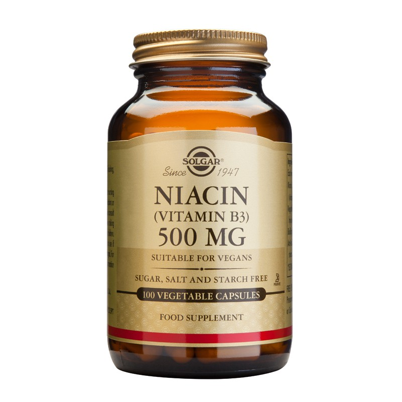 Niacin (B3) 500mg tablets
