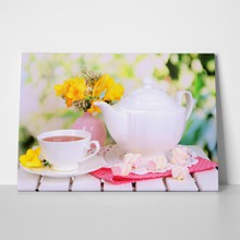 Beautiful set with tea 132624605 a