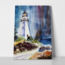 Watercolor lighthouse a