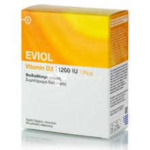 Eviol Vitamin D3 1200IU (30μg), 60caps