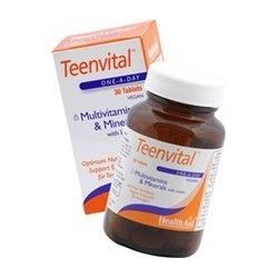 Health Aid Teenvital Tablets 30 tabs (Ages 12-16)
