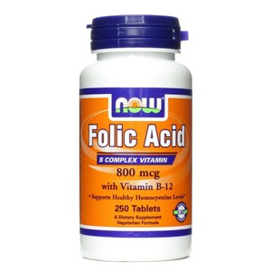 Now foods folic acid 800mcg