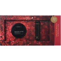 Korres Timeless Beauty Set Με Iluminating Setting Powder & Morello Creamy Lipstick 54