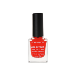 Korres Gel Effect Nail Colour Βερνίκι Νυχιών 45 Coral 11ml