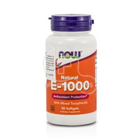NOW - Natural Vitamin E-1000 with Mixed Tocopherols - 50softgels