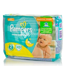 Pampers No.2 (3-6 kg) - New Baby Dry, 43τμχ