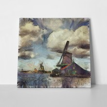 Illustration windmill netherlands 200218667 a