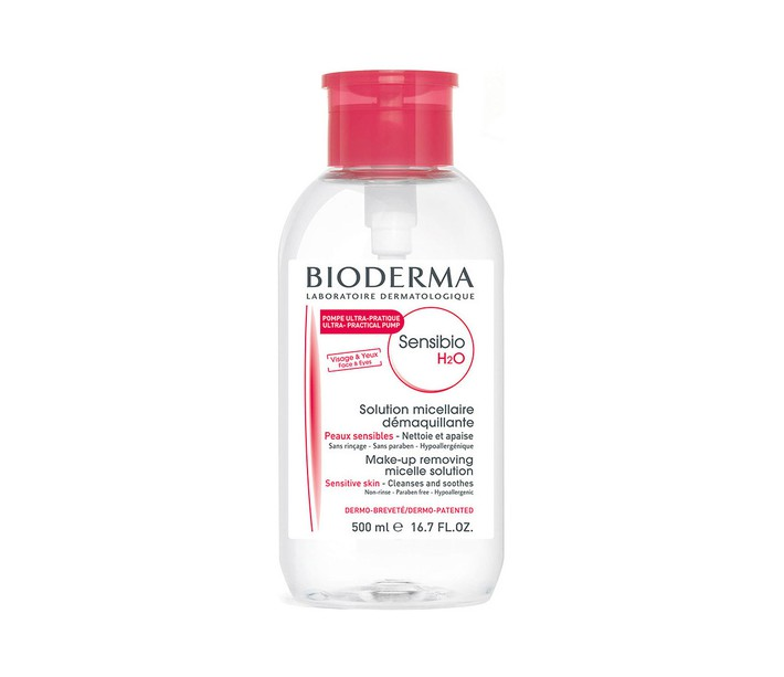 BIODERMA SENSIBIO H2O SOLUTION MICELLAIRE 500ML - PRACTICAL PUMP