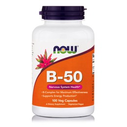 Now Foods Vitamin B-50 Complex 100 Veg Capsules