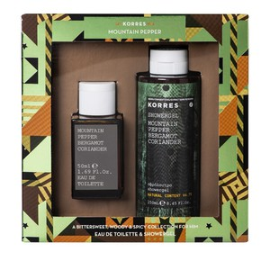 KORRES Αφρόλουτρο mountain pepper bergamot coriander 250ml & Eau de toilette mountain pepper bergamot coriander 50ml
