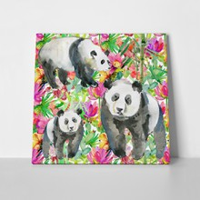 Panda family watercolor painting 336358517 a