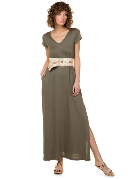 39956fe1ed0f Μακρύ φόρεμα με σκίσιμο