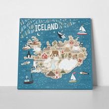 Map iceland travel illustration 601678655 a