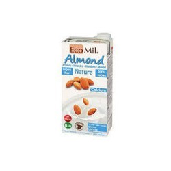 EcoMil Almond Milk with Natural Calcium Sugar Free 1lt