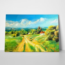 Summer scene landscapes this oil painting 3436000 a