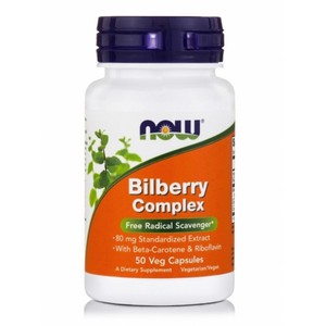 Bilberry complex 80 mg veg capsules