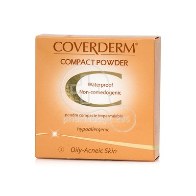 COVERDERM - COMPACT POWDER Oily/Acneic Skin No2 - 10gr