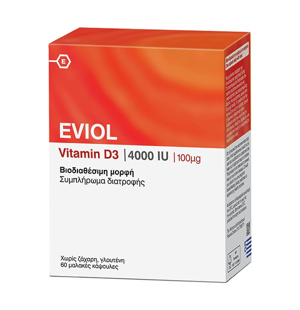 EVIOL VITAMIN D3 4000IU 60 CAPS