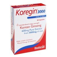 HEALTH AID KOREGIN 3000 (KOREAN GINSENG 600MG) 30CAPS