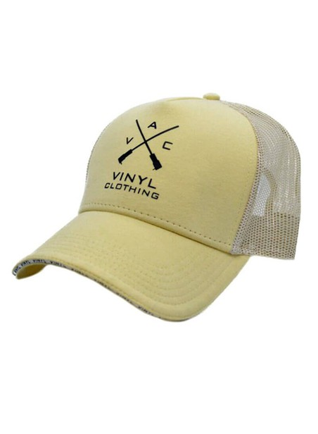 VINYL ART CLOTHING BEIGE LOGO CAP