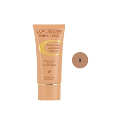 Coverderm Perfect Face SPF20 No 9 Αδιάβροχο Κρεμώδες Make Up 30ml