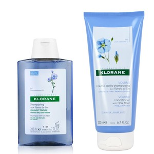 Klorane shampoo flax 200ml   conditioner 200ml