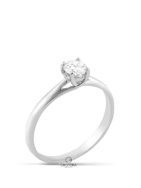Μονόπετρο Δαχτυλίδι Λευκόχρυσο Κ18 με Διαμάντι 0 f4847f7c0b9
