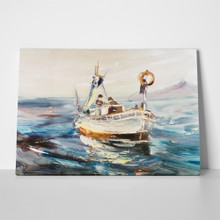 Fisherman at sea a