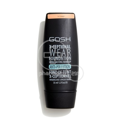 GOSH - X-CEPTIONAL WEAR FOUNDATION No14 Sand - 35ml