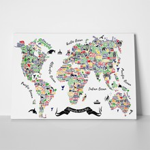 Typography world map illustration 532446481 a