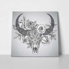 Decorative indian bull skull 303393062 a