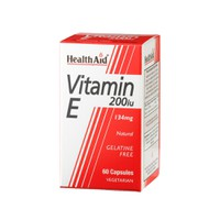 HEALTH AID VITAMIN E 200IU 60VEG.CAPS