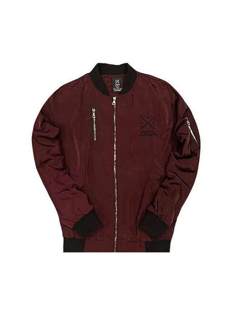 VINYL ART CLOTHING BOMBER JACKET BORDEAUX