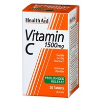 HEALTH AID VITΑΜΙΝ C 1500MG PROLONGED RELEASE 30TABL