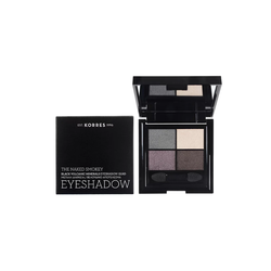 Korres The Naked Smokey Black Volcanic Minerals Eyeshadow Quad Παλέτα Σκιών Για Τα Μάτια 5g