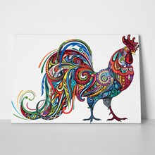 Colorful pattern drawing rooster 381537994 a