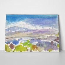 Mountains watercolor abstract 1076000963 a