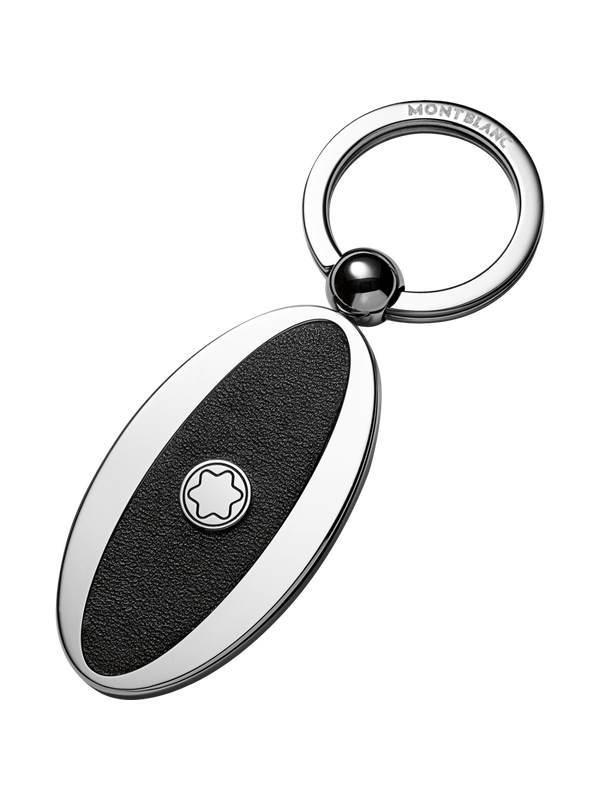Meisterstück Key Fob Oval Metal/Leather