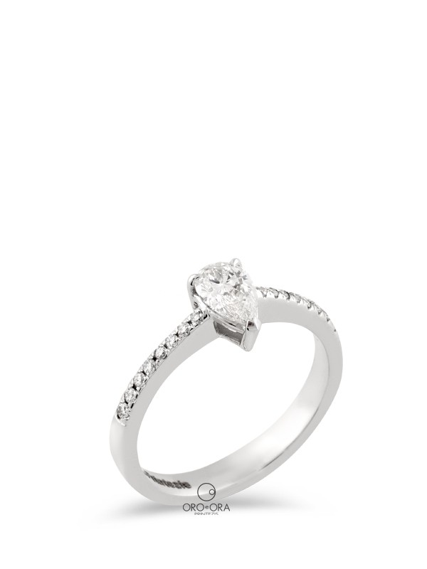 Ring White Gold K18 with Diamond 0,48ct