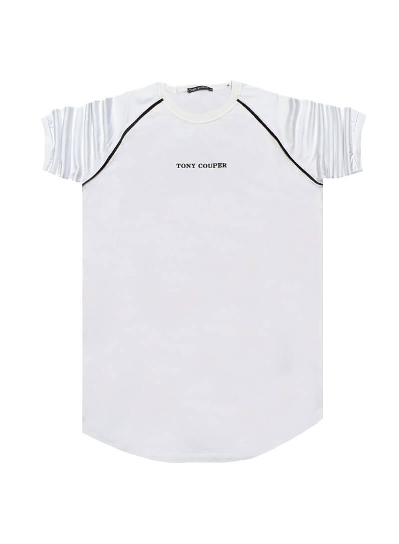 TONY COUPER WHITE STRIPES T-SHIRT